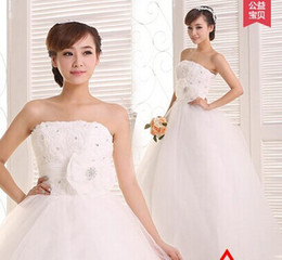 Wholesale New arrival hot sale fashion princess sweet elegant super Korean rose flowers sweet bra straps lace bride wedding dress