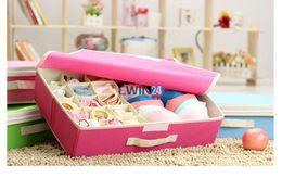 Discount underwear sell 15 Cell Underwear Storage Box For Bra Socks Ties Divider Drawer Closet Organizer New Hot Selling