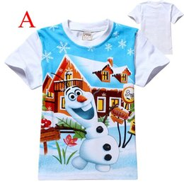 Wholesale DHL Frozen Little Boys Olaf T Shirt colors for Y