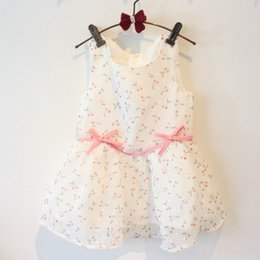 Wholesale Beautiful Cheap Kids Girl Clothes Girls Party Dress for Years Babies Little Girls Cotton Dresses Children Clothes White Color