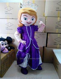 Wholesale Adult Sofia Mascot Costume Princess Cartoon Suit Sophia Outfit Christmas Dress
