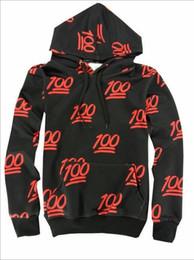 Wholesale nova moda Emoji camisas Women Men Boy Girl d centena de impressão pontuação Emojis hoodies moletom basculador frete grátis preto roupa