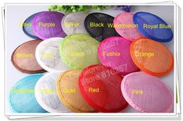 Wholesale quot cm color sinamay fascinator base sinamay hair accessories DIY hair accessories pieces MH022