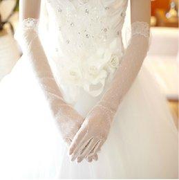 Wholesale Latest Long Style Hot Sale Lace Fashion Bridal Wedding Gloves