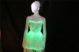 Wholesale luminous womens cocktail dresses party dancewear dress for party dress led colorful christmas dress creative new year gift