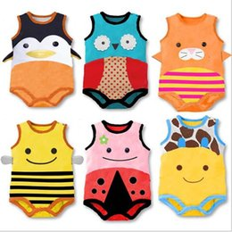 Wholesale 2015 Baby clothing Rompers and Hat one pieces infant Jumpers cute cartoon animal Romper