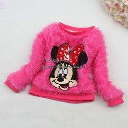 Wholesale Minnie Mouse Kids Coat Children Coat Girl Dress Winter Coat Child Girls Coat Children Clothes Kids Clothing Fur Coat Children Outwear L43080