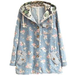 Vintage Denim Hoodie Jacket Women Online | Vintage Denim Hoodie ...