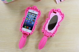 Wholesale Magic Cosmetic Mirror and D Moschino Barbie Girl Beautiful Doll Pink Soft Silicone GEL Case for iPhone S S Plus inch