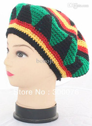 Jamaican Halloween Costume halloween costumes 2 15 awesome weed themed halloween costumes Wholesale Jamaican Style Reggae Red Yellow Green Punk Rasta Cap Costume Knitting Hippie Beret Halloween Handmade Crochet Hat Free Shipping