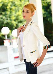 Wholesale women white blazers fashion formal jackets women business office suits work suits jacket blaser feminino