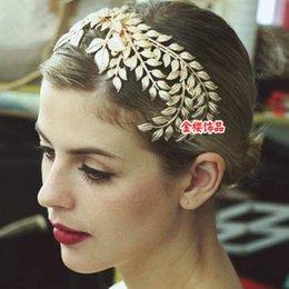 Wholesale 2015 Unique Gold Foliage Bridal Hair Accessories Baroque Greek Goddess Sparkly Elegance Wedding Party Ladies Hairwear New Fashion MB