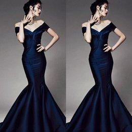 Wholesale 2015 Best Elegant Off Shoulder Mermaid Trumpet Corset Prom Evening Dresses Formal Gowns Zuhair Murad Backless Floor Length Taffeta Partygown