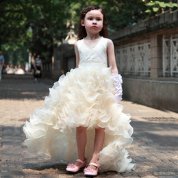 Wholesale Custom Princess Ball Gown Girls Pageant Dresses With Beading Crystal Sequins Tiers Yellow pageant dresses for little girls isabella barrett