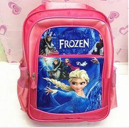 Wholesale retail Children s School Bags Hot Frozen Princess Printing School Bags for Teenagers Backpacks Frozen for Girls Mochilas Girls