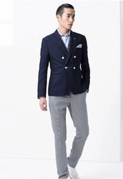 Wholesale Korean style suits for men fashion suit Wool and polyster and polyester or polyester wool or at customers requirements