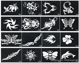 Wholesale Mixed Design Stencils for Body Painting Glitter Temporary Tattoo Design DIY Body Art