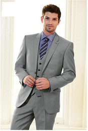Discount Mens Style Light Grey Suit   2017 Mens Style Light Grey