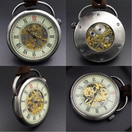 discount wind up watches for men 2017 wind up mechanical watches fob watches for men vintage 17 crystals hand wind up mechanical movement pocket watch chain casual lidless