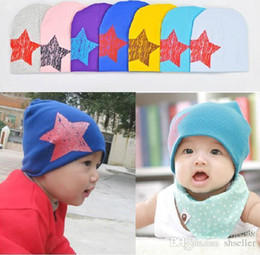 online shopping Baby hat Floor price boys and girls baby beanies hat winter hats cute child star cotton accessories caps D1092 A5