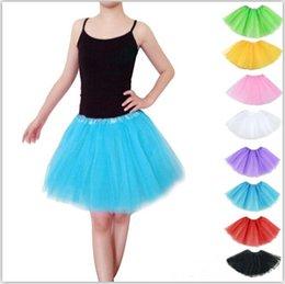 Wholesale 10 Color Adults Women Tutu Dress Ballet Dance Wear Mini Short Skirt Dance Costume Ball Gown Stage Wear Pettiskirt Dance Skirt LJJE384