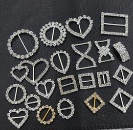 20mm Ronda Cristal De Cristal Hebillas Broches 14mm Bar Invitación De La Cinta De Cinta Cubiertas Cursores De Curva Arcos De Hebillas Artículos De Boda