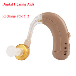 Wholesale Rechargeable Digital Hearing Aids Aid Behind The Ear Adjustable Sound Amplifier With Low Noise Reduction Y4261R