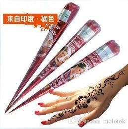 Wholesale High Quality goods import henna sea na cone India ink na Hanna tattoo tattoo paste pure plant brown Tattoos Body Art Tattoo Inks A2