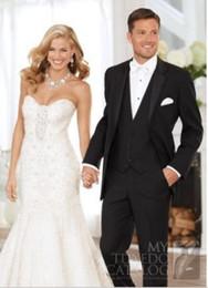 Wholesale Groom Suits Wedding Mens Black Suit Set trajes de novio Mens Suits with Pants Real Pictures Mens White Suits for Weddings Jacket Pants
