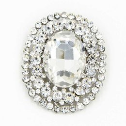 Wholesale Elegant Oval Shaped Big Glass Crystal Huge Brooch Top Quality Stunning Brooch Pin For Wedding Bridal Dress Jewelry Broach Cheap