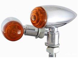 Preto Cromo Bala de Metal Motocicleta LED Sinal de volta a Luz do Indicador de Mini Sportster Dyna Softail Bobber Chopper Flash Âmbar luz Indicadora
