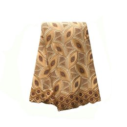 Wholesale High Quality African Swiss voile lace Beige Cream yards pack cotton African Wedding lace