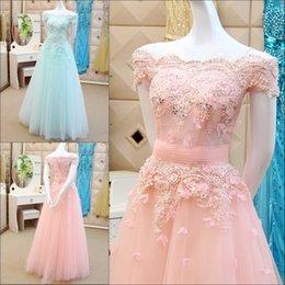 Wholesale vestido de debutante para anos Prom Party Gowns lace appliques beading red sky blue Cheap Hot Pink Quinceanera Dresses