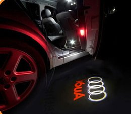 online shopping No damage wireless car door light Ghost Light Welcome Light projector welcome led lamp ghost shadow light for Audi A6L A7 A8L A4 Q3 A5 Q7