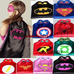 Wholesale Superhero cape CAPE MASK cm back Super Hero Costume for Children Halloween Party Costumes for Kids