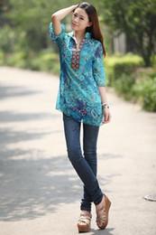 Wholesale Summer indian dresses for women bohemian floral pluz size womens chiffon blouse M L XL XXL XXXL XXXXL XL indian embroidery print dress