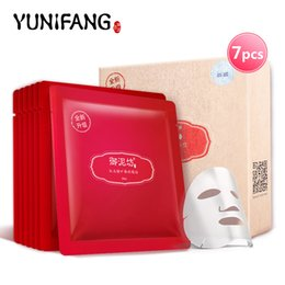 Wholesale skin care YUNIFANG Pomegranate Face Mask face care anti oxidant anti aging anti wrinkle whitening brightening hydrating moisturizing