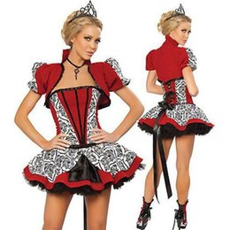 Wholesale Halloween Party Cosplay Anime Costume Role Playing Luxury Queen Costume Sexy Short Skirt FZ904