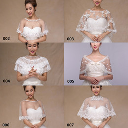 Wholesale White Lace Wedding Bolero Jacket Tulle Sexy Sheer Bridal Shawl Wraps Multi Styles Bridal Accessories Cheap