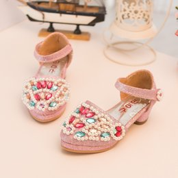 Wholesale 2015 spring baby girl shoes new Korean Style Colorful Crystal Fashion Leather princess children shoes girls pair age