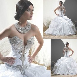 Wholesale Cheap Sweetheart Beading Quinceanera Dresses Ball Gowns vestido de anos de debutante Open Back Iovry Prom Party Gowns
