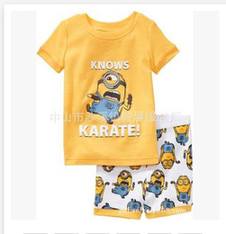 Wholesale 44 styles Despicable Me Pyjamas boy girl kids pyjamas sets Minions baby superman pajamas batman sleepwear kids short children pajamas R00523