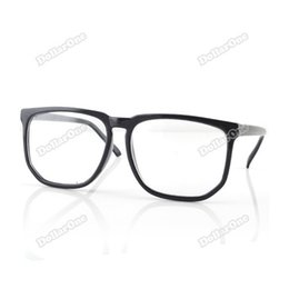 wholesale lauradeal big saving large square clear lens black frame nerd glasses 03 newly