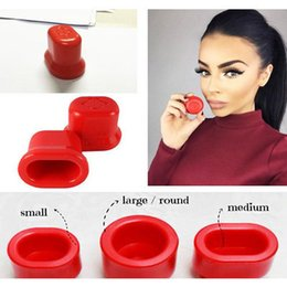 Wholesale 3size set HOT SALE Super Sexy Full Natural Lips Plump Lip Enhancer Plumper Lip Pump Round Oval S M L size beauty t3pcs ool