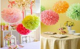 Wholesale cm inch Tissue Paper Pom Poms Wedding Party Craft Paper Flower For Wedding Decoration