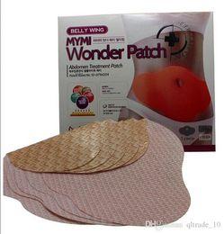 Wonder parche 5pcs / pack Mymi Wonder delgado adelgazamiento parche vientre parches de gel parche de pérdida de peso del vientre de la cintura los productos remiendos delgados DDA2910 200