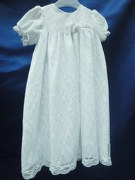 Wholesale First Communion Dresses Newborn New Girls Pageant Dresses Hot Simple Children Kids Ball Gown Skirts Basic Baby Christening White Ivory Lace