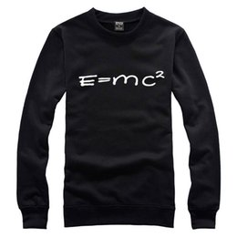 Wholesale The new Korean version of the Spring and Autumn trend sports lovers Einstein mass formula stylish simplicity no cap Sweater