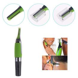 Микро Точность уха бровей Нос Триммер Многофункциональный Личная Электрический Встроенный светодиод лица Уход за волосами тример 50шт по DHL 6849