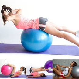 Wholesale New Arrivals cm cm cm Exercise Ball Air Pump Body Slimming For Yoga Fitness Pilates Home Gym Cx97